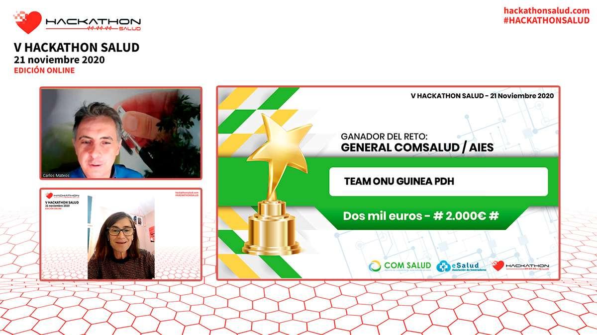 Premios Hackathon Salud 2020
