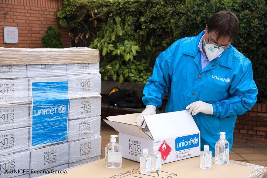 UNICEF suministros Coronavirus