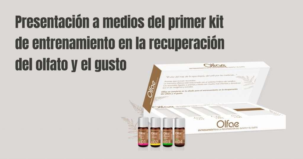 Presentación a medios del primer kit de entrenamiento en la recuperación del olfato y el gusto